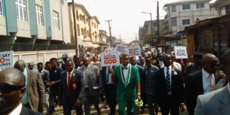 Christian Protest Against Insecurity